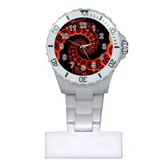 Chinese Lantern Festival For A Red Fractal Octopus Plastic Nurses Watch by jayaprime