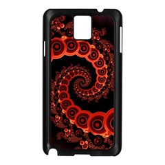 Chinese Lantern Festival For A Red Fractal Octopus Samsung Galaxy Note 3 N9005 Case (black) by jayaprime