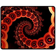 Chinese Lantern Festival For A Red Fractal Octopus Double Sided Fleece Blanket (medium)  by jayaprime