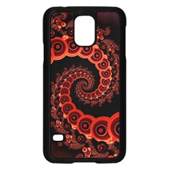 Chinese Lantern Festival For A Red Fractal Octopus Samsung Galaxy S5 Case (black) by jayaprime