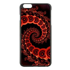 Chinese Lantern Festival For A Red Fractal Octopus Apple Iphone 6 Plus/6s Plus Black Enamel Case by jayaprime