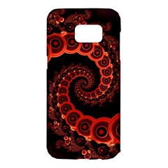 Chinese Lantern Festival For A Red Fractal Octopus Samsung Galaxy S7 Edge Hardshell Case by jayaprime