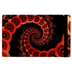 Chinese Lantern Festival For A Red Fractal Octopus Apple Ipad Pro 12 9   Flip Case by jayaprime