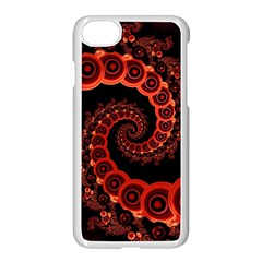 Chinese Lantern Festival For A Red Fractal Octopus Apple Iphone 8 Seamless Case (white) by jayaprime