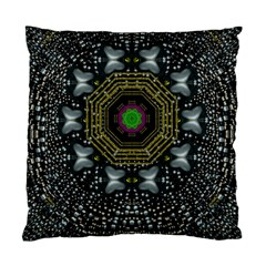 Leaf Earth And Heart Butterflies In The Universe Standard Cushion Case (one Side) by pepitasart