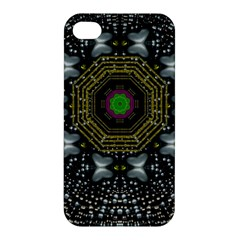 Leaf Earth And Heart Butterflies In The Universe Apple Iphone 4/4s Hardshell Case by pepitasart