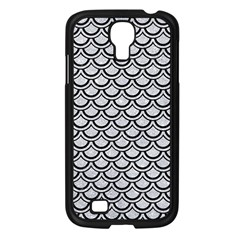 Scales2 Black Marble & Silver Glitter Samsung Galaxy S4 I9500/ I9505 Case (black) by trendistuff