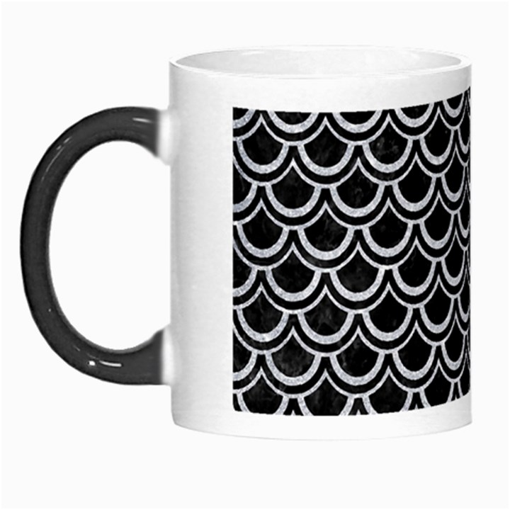 SCALES2 BLACK MARBLE & SILVER GLITTER (R) Morph Mugs