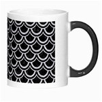 SCALES2 BLACK MARBLE & SILVER GLITTER (R) Morph Mugs Right