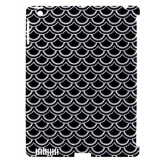 Scales2 Black Marble & Silver Glitter (r) Apple Ipad 3/4 Hardshell Case (compatible With Smart Cover) by trendistuff