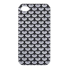 Scales3 Black Marble & Silver Glitter Apple Iphone 4/4s Hardshell Case by trendistuff