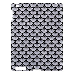 Scales3 Black Marble & Silver Glitter Apple Ipad 3/4 Hardshell Case by trendistuff