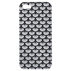 Scales3 Black Marble & Silver Glitter Apple Iphone 5 Hardshell Case by trendistuff