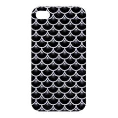 Scales3 Black Marble & Silver Glitter (r) Apple Iphone 4/4s Hardshell Case by trendistuff