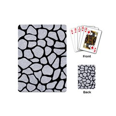 Skin1 Black Marble & Silver Glitter (r) Playing Cards (mini)  by trendistuff