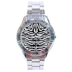 Skin2 Black Marble & Silver Glitter Stainless Steel Analogue Watch by trendistuff