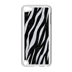 Skin3 Black Marble & Silver Glitter (r) Apple Ipod Touch 5 Case (white) by trendistuff