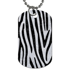 Skin4 Black Marble & Silver Glitter (r) Dog Tag (one Side) by trendistuff