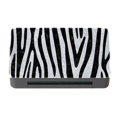 Skin4 Black Marble & Silver Glitter (r) Memory Card Reader With Cf by trendistuff