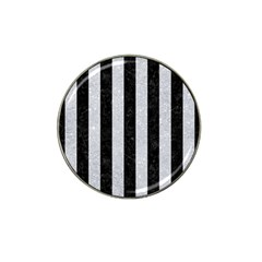 Stripes1 Black Marble & Silver Glitter Hat Clip Ball Marker (10 Pack) by trendistuff