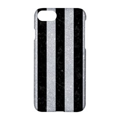 Stripes1 Black Marble & Silver Glitter Apple Iphone 8 Hardshell Case by trendistuff