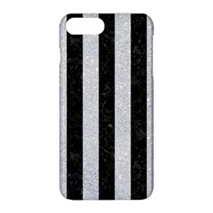 Stripes1 Black Marble & Silver Glitter Apple Iphone 8 Plus Hardshell Case by trendistuff