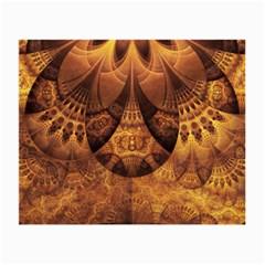 Beautiful Gold And Brown Honeycomb Fractal Beehive Small Glasses Cloth (2 Side) by jayaprime