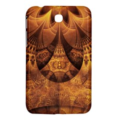 Beautiful Gold And Brown Honeycomb Fractal Beehive Samsung Galaxy Tab 3 (7 ) P3200 Hardshell Case