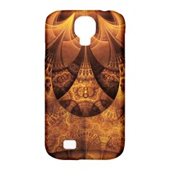 Beautiful Gold And Brown Honeycomb Fractal Beehive Samsung Galaxy S4 Classic Hardshell Case (pc+silicone) by jayaprime