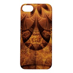 Beautiful Gold And Brown Honeycomb Fractal Beehive Apple Iphone 5s/ Se Hardshell Case by jayaprime