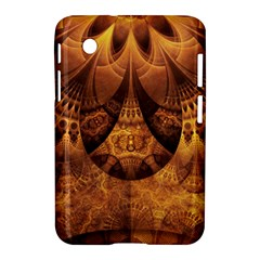 Beautiful Gold And Brown Honeycomb Fractal Beehive Samsung Galaxy Tab 2 (7 ) P3100 Hardshell Case