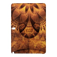 Beautiful Gold And Brown Honeycomb Fractal Beehive Samsung Galaxy Tab Pro 12 2 Hardshell Case by jayaprime
