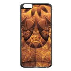 Beautiful Gold And Brown Honeycomb Fractal Beehive Apple Iphone 6 Plus/6s Plus Black Enamel Case by jayaprime
