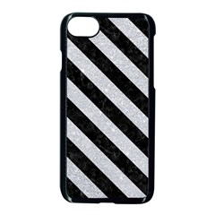 Stripes3 Black Marble & Silver Glitter Apple Iphone 8 Seamless Case (black) by trendistuff