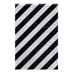 Stripes3 Black Marble & Silver Glitter (r) Shower Curtain 48  X 72  (small)  by trendistuff