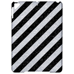 Stripes3 Black Marble & Silver Glitter (r) Apple Ipad Pro 9 7   Hardshell Case by trendistuff