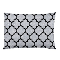 Tile1 Black Marble & Silver Glitter Pillow Case by trendistuff