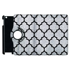 Tile1 Black Marble & Silver Glitter Apple Ipad 3/4 Flip 360 Case by trendistuff