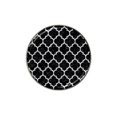 Tile1 Black Marble & Silver Glitter (r) Hat Clip Ball Marker (10 Pack) by trendistuff