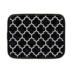Tile1 Black Marble & Silver Glitter (r) Netbook Case (small)  by trendistuff