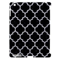 Tile1 Black Marble & Silver Glitter (r) Apple Ipad 3/4 Hardshell Case (compatible With Smart Cover) by trendistuff