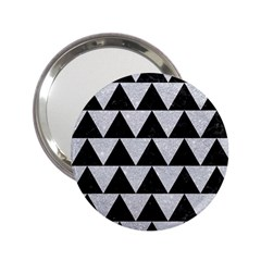 Triangle2 Black Marble & Silver Glitter 2 25  Handbag Mirrors by trendistuff