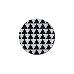 Triangle2 Black Marble & Silver Glitter Golf Ball Marker by trendistuff