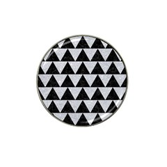Triangle2 Black Marble & Silver Glitter Hat Clip Ball Marker (10 Pack) by trendistuff