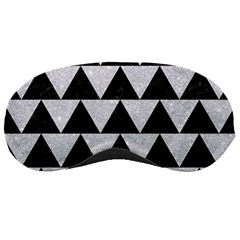 Triangle2 Black Marble & Silver Glitter Sleeping Masks by trendistuff