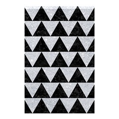 Triangle2 Black Marble & Silver Glitter Shower Curtain 48  X 72  (small)  by trendistuff
