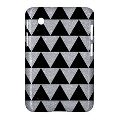 Triangle2 Black Marble & Silver Glitter Samsung Galaxy Tab 2 (7 ) P3100 Hardshell Case  by trendistuff