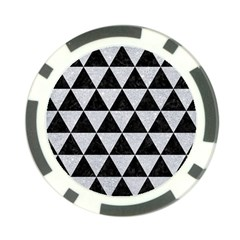 Triangle3 Black Marble & Silver Glitter Poker Chip Card Guard by trendistuff