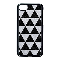 Triangle3 Black Marble & Silver Glitter Apple Iphone 8 Seamless Case (black)