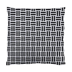 Woven1 Black Marble & Silver Glitter Standard Cushion Case (two Sides)